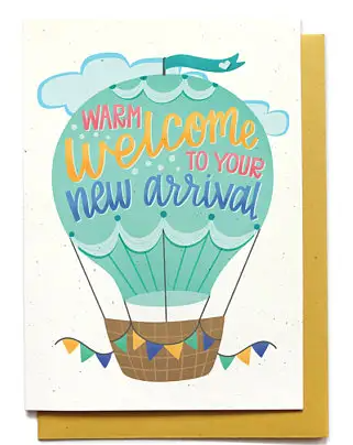 Hot Air Balloon  Baby Welcome