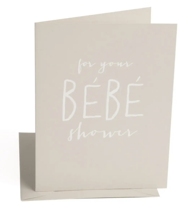 Bebe Shower Card