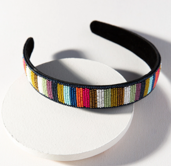 Beaded Headband - Multi Stripe (SBHA0301MS)