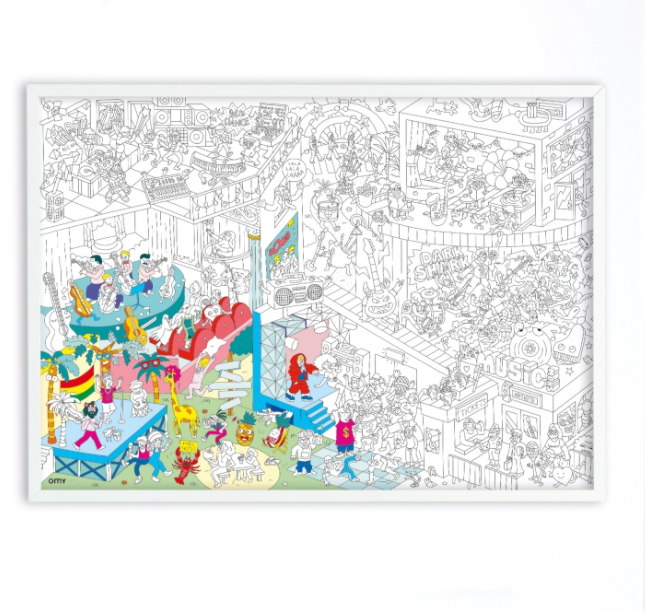 Giant Coloring Poster | Music