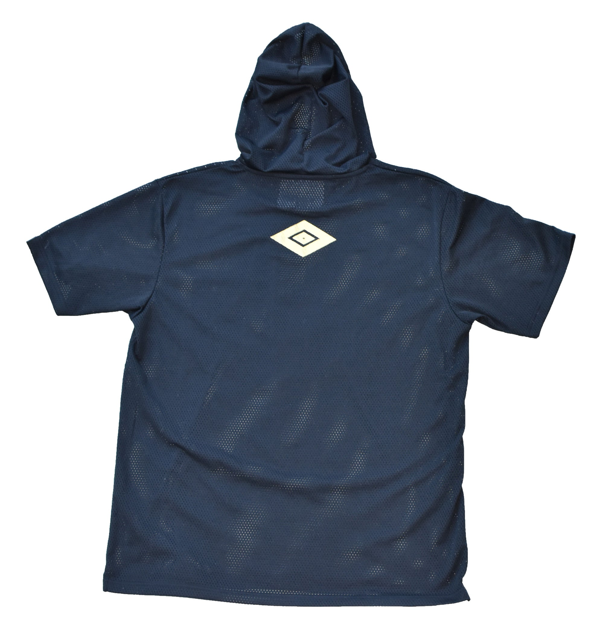 Hooded Football Jersey in Black/Gold