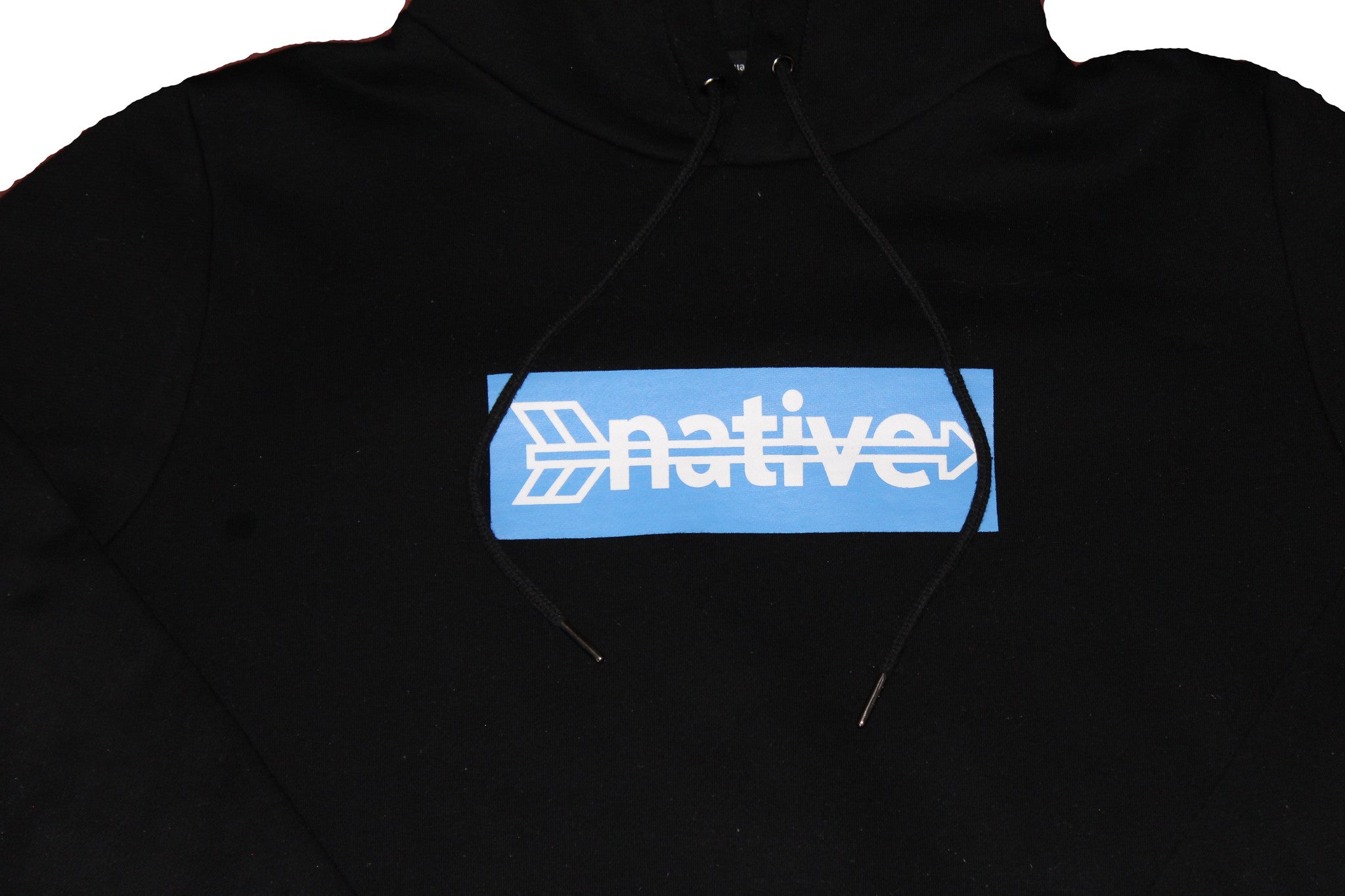 Box Hoodie in Black/Royal