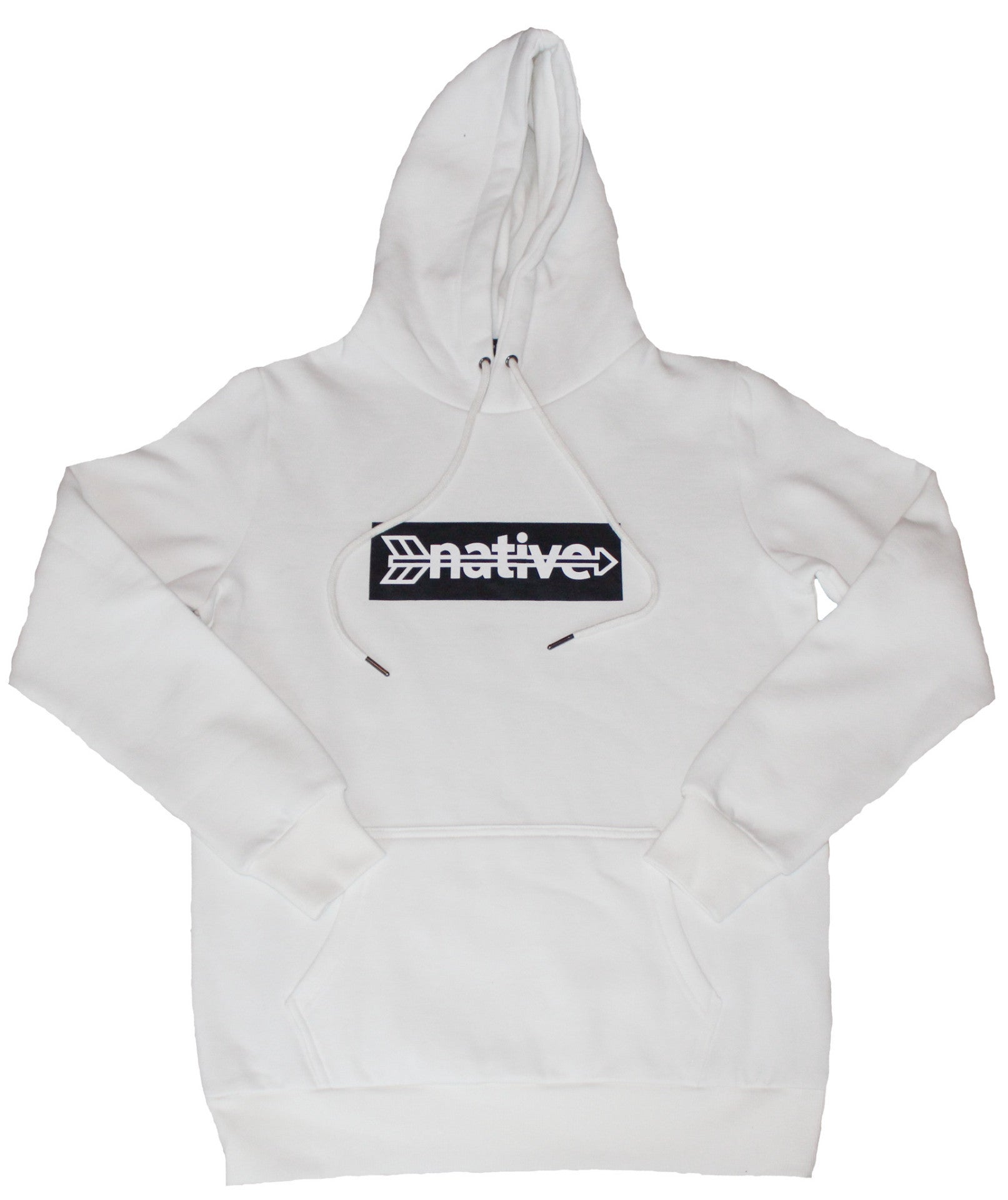 Box Hoodie in White/Black