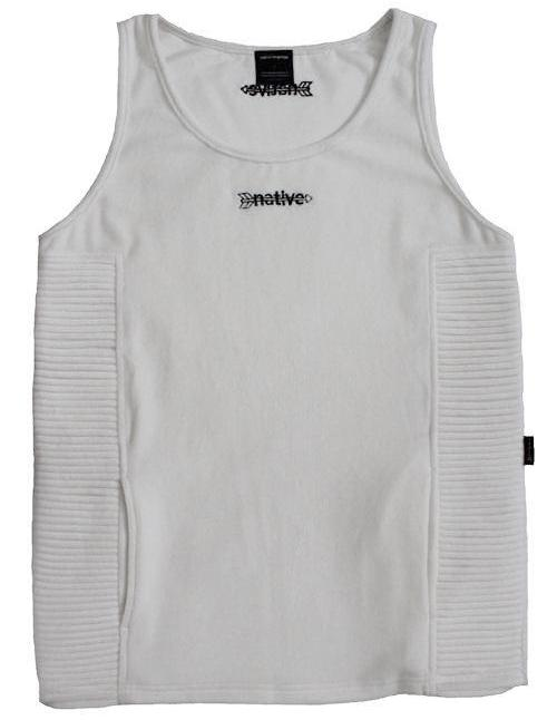 Velour Ribbed Tank in White