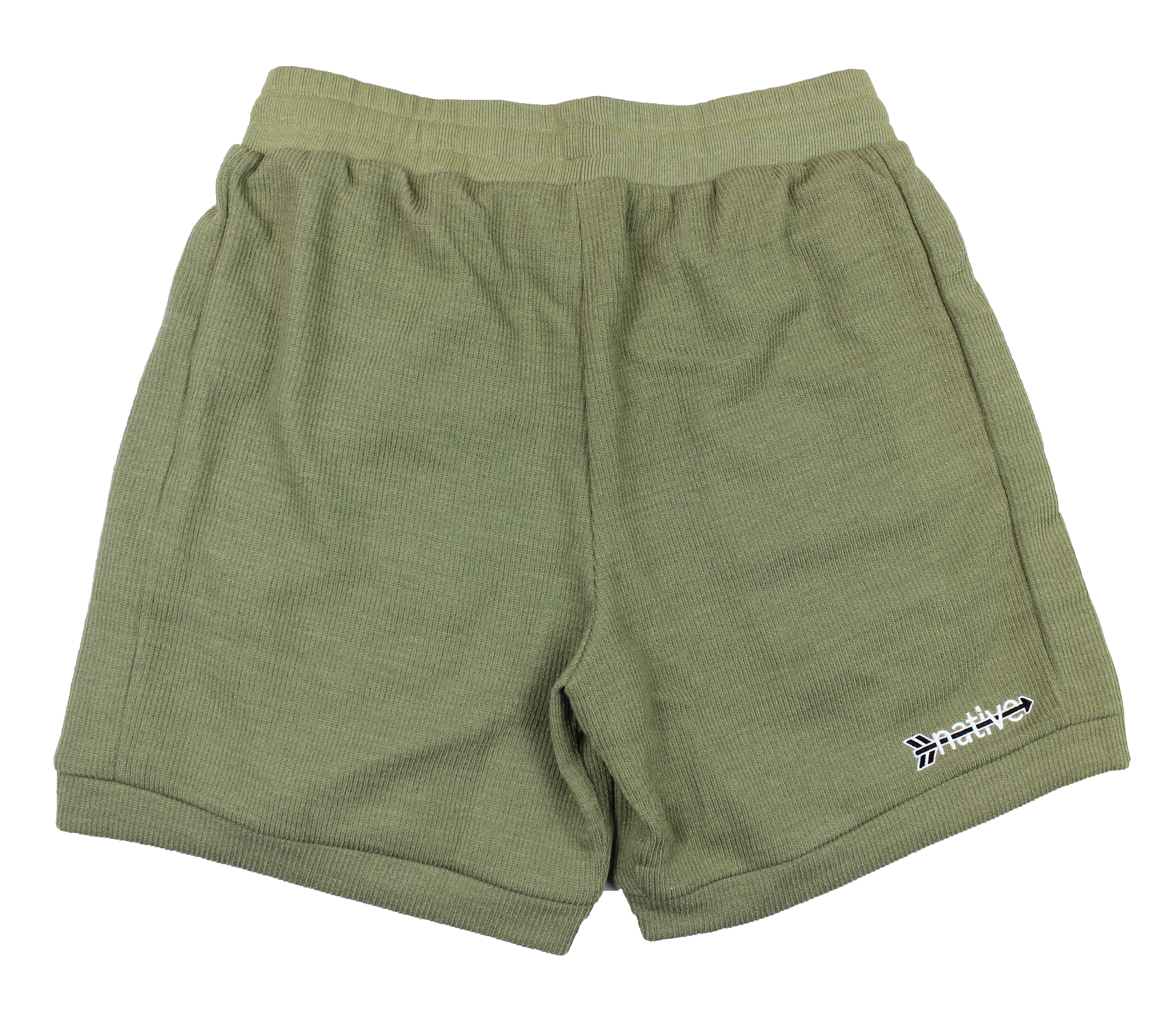 corduroy knit shorts in moss