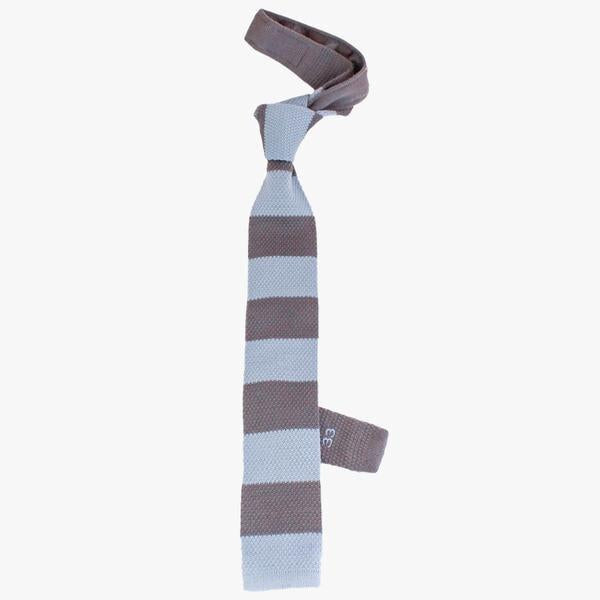 blue and grey mens woven tie