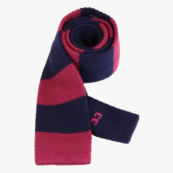 red and blue rugby tie