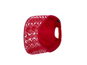 artisan handmade designed red cap on white background