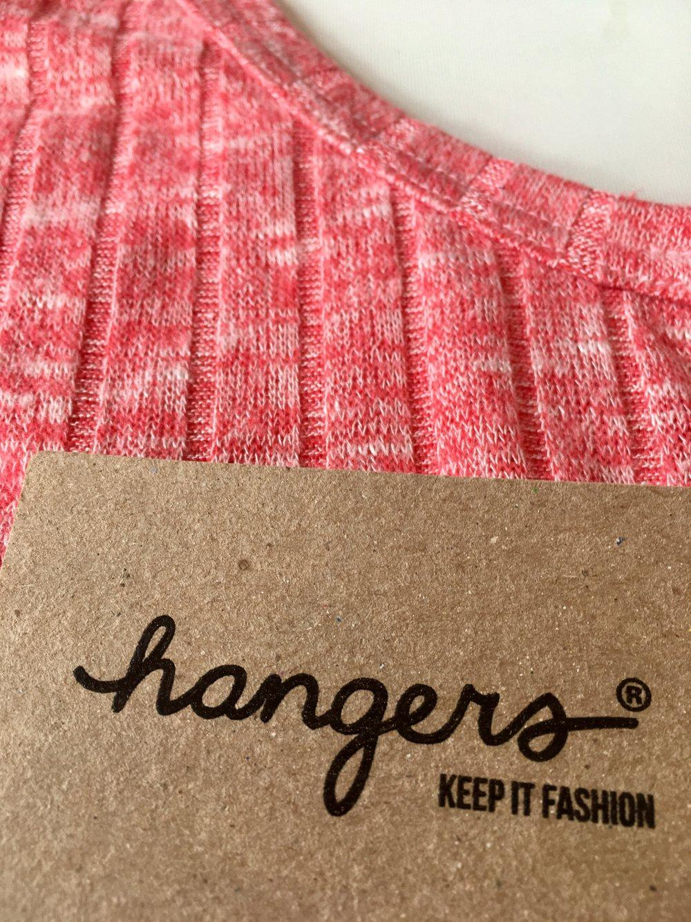 closeup of small crop top and label