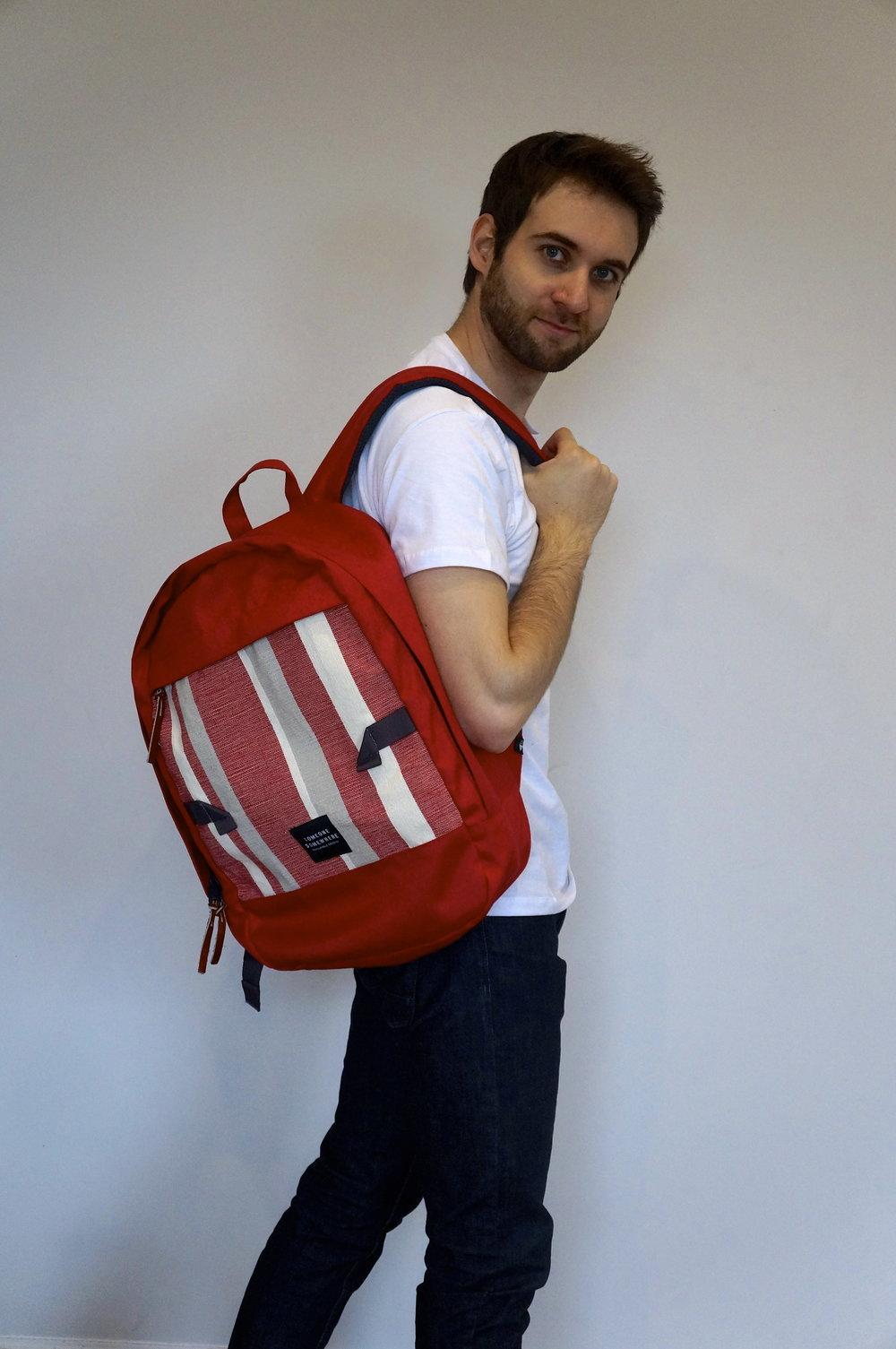 Red Rucksack by Someone Somewhere