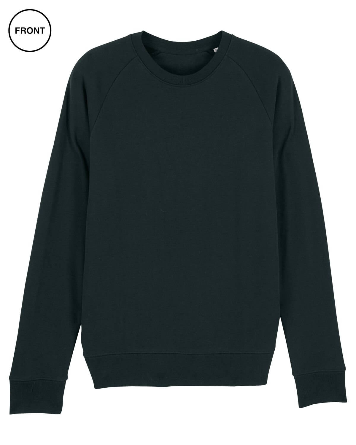 black mens cotton sweatshirt