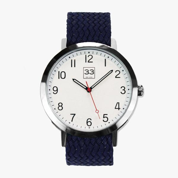 Watch with blue strap