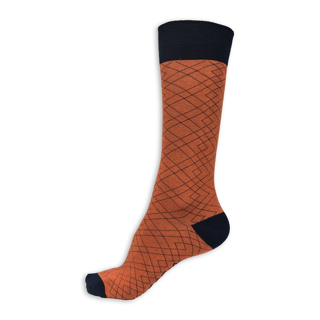 cotton orange and black socks