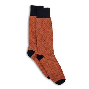 orange and black socks