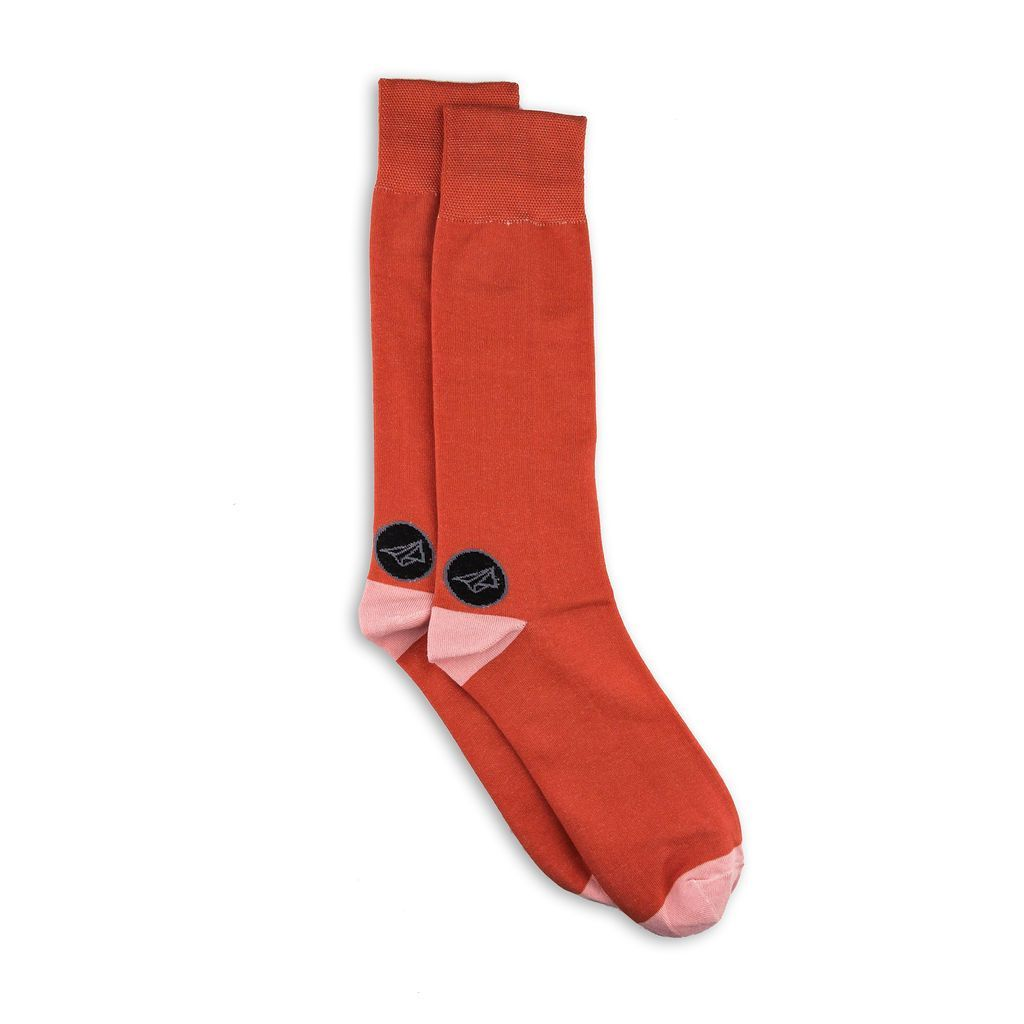 Simple orange socks