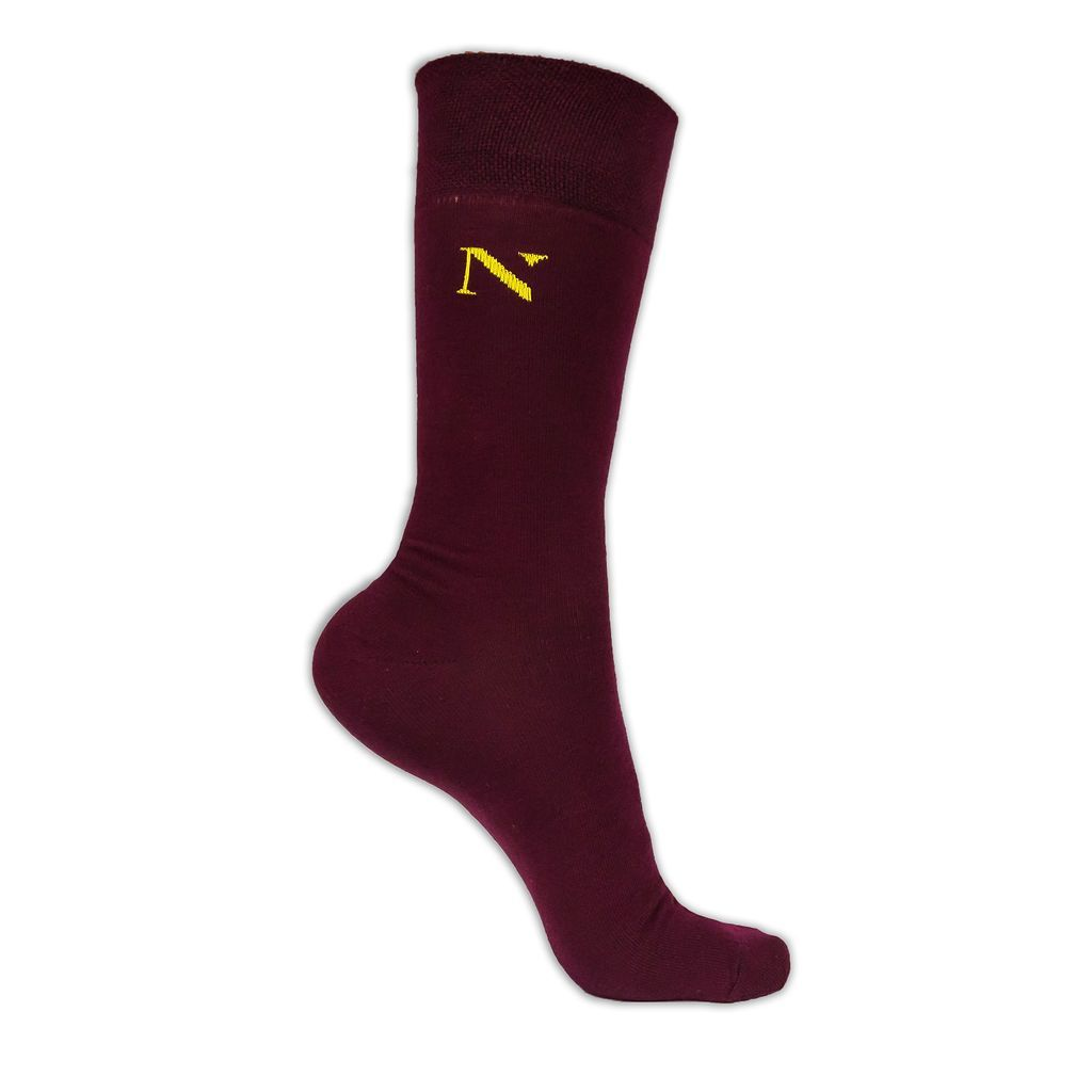 maroon mens socks