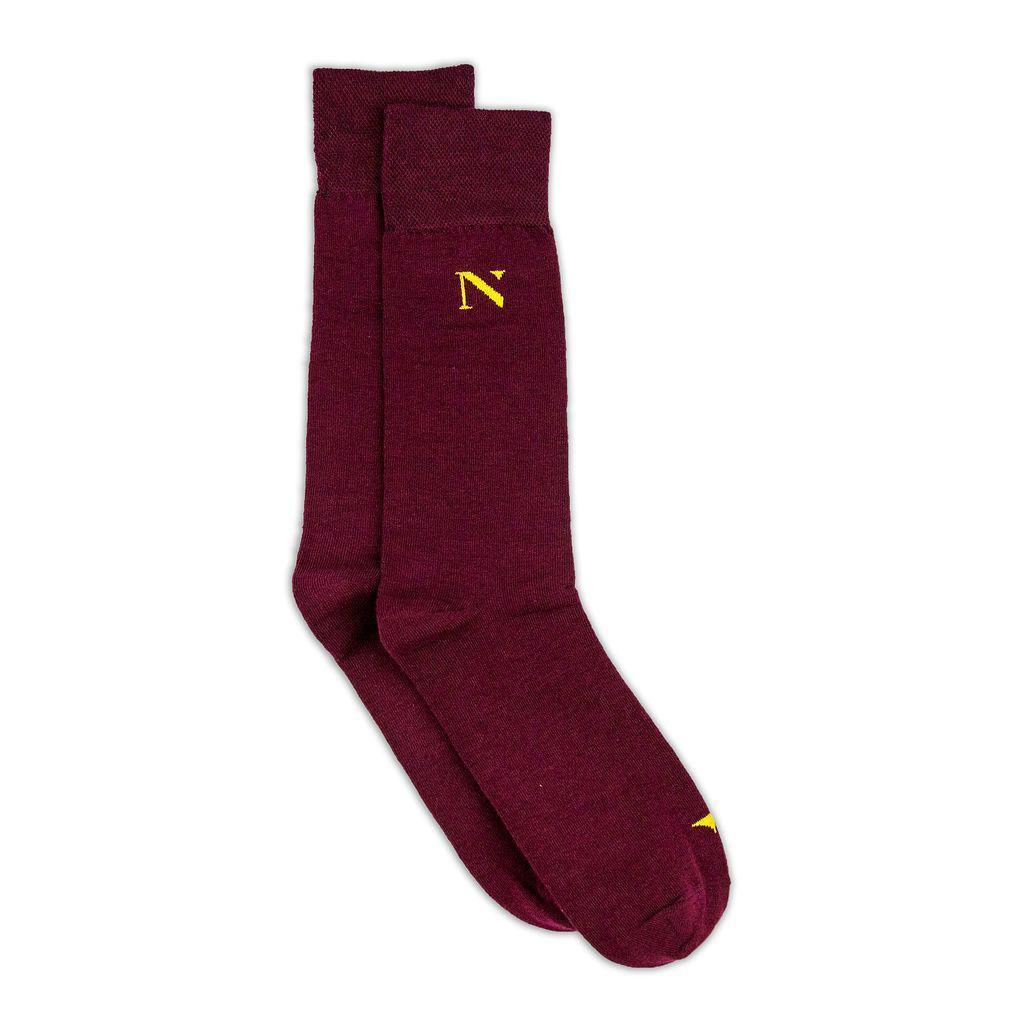 red socks cotton socks with yellow logo