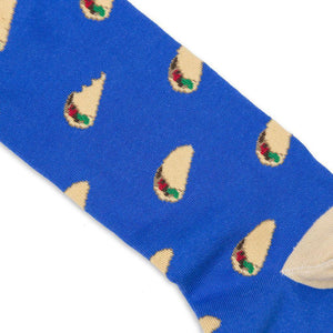 mexican tacos pattern print socks