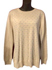 Size 12 (Medium) Dickins & Jones Beige  Fine Knit Jumper
