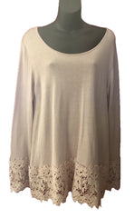 Size 14 Pale Pink Creation Knit Top