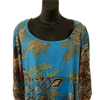 Size 14-16 XL Nomads Fair Trade Tunic Turquoise Patterned Top