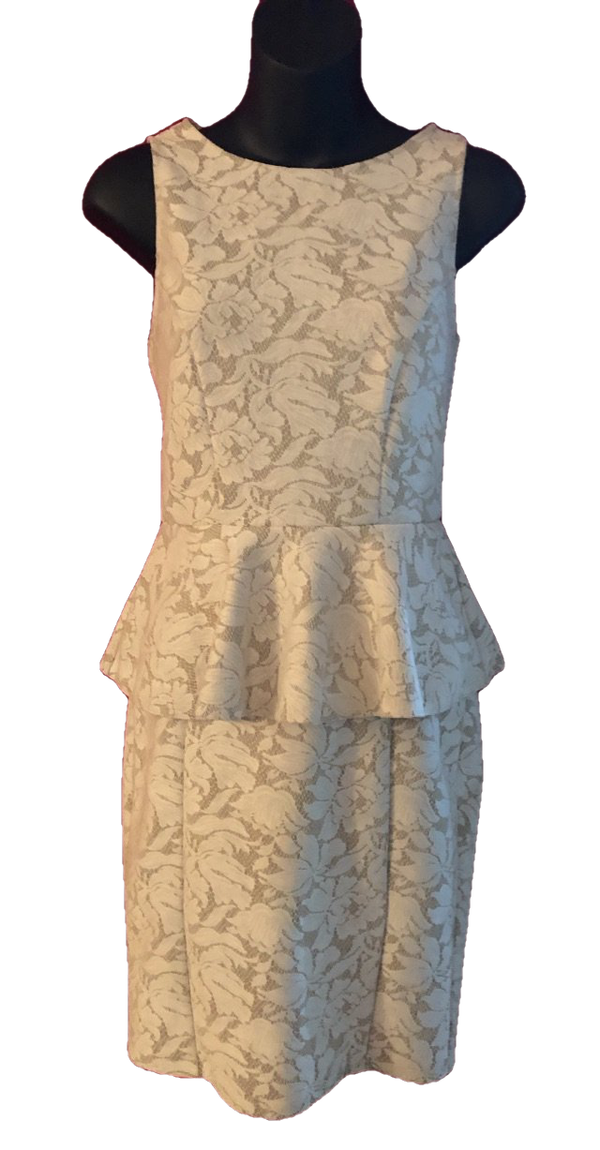 Size 8  Warehouse Cream Dress