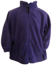 Age 7 - 8 Cadbury Purple  Fleece Jacket  New