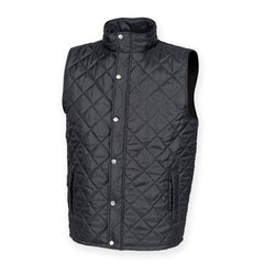 Size 14 Ladies Front Row Black Quilted Gilet FR904  New