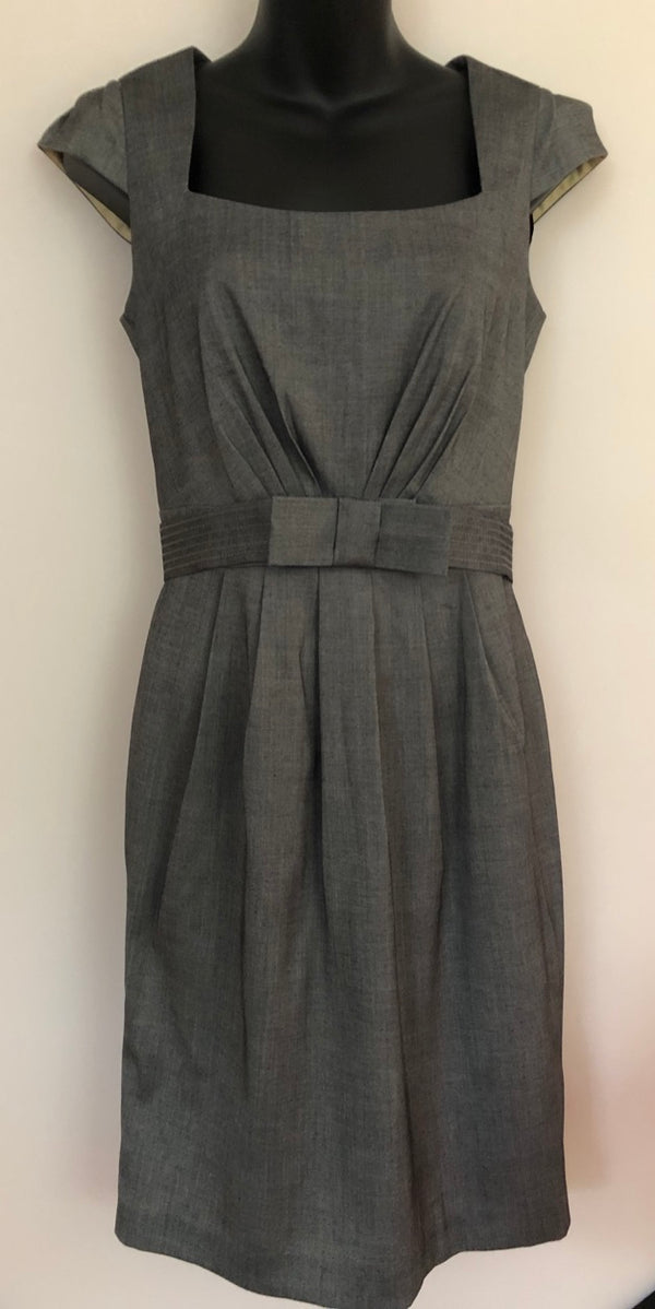 Size 10 New Look Grey Belted Dress Rrp 29.99 New & Tagged