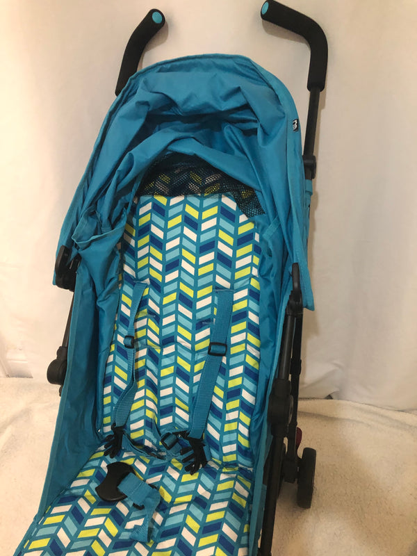 Mothercare Nanu Pushchair - from Birth in Aqua Chevron  Used Once at Grannys