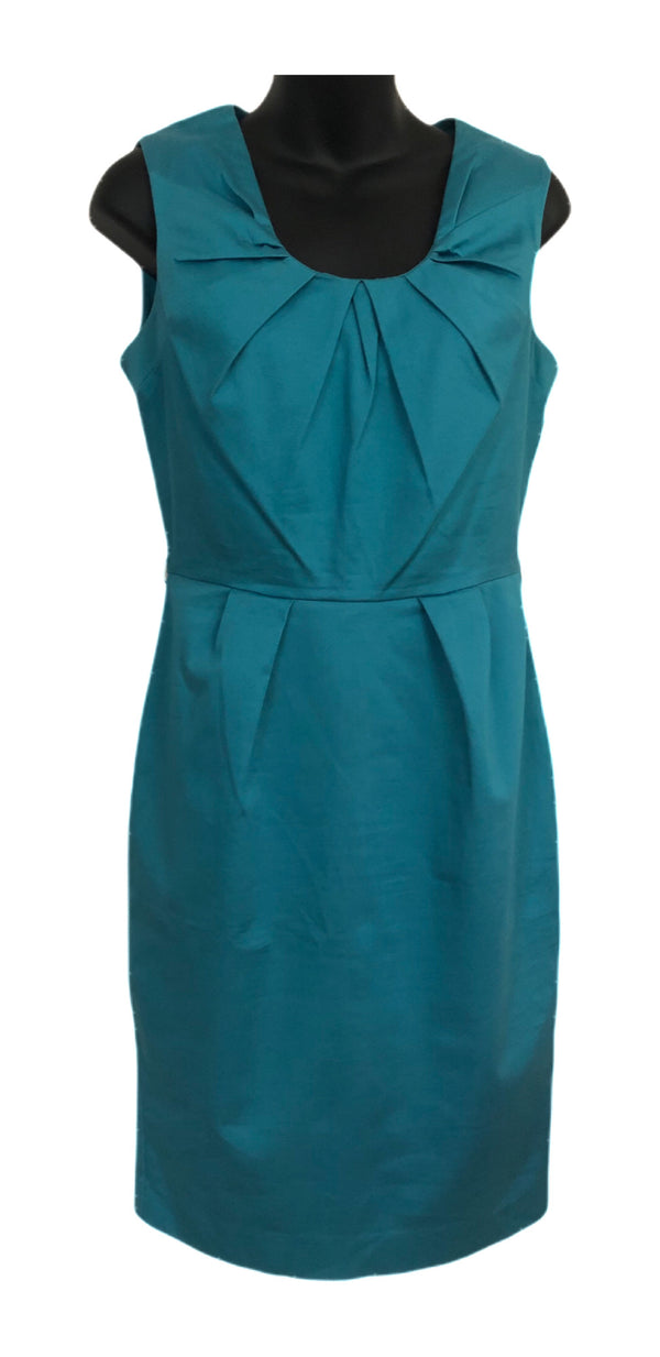 Size 10 Warehouse Turquoise Smart Lined Dress