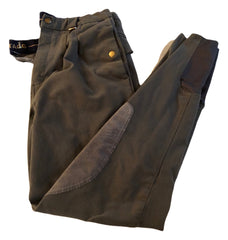 Large Mens 34-36 Tagg Dark Green Breeches