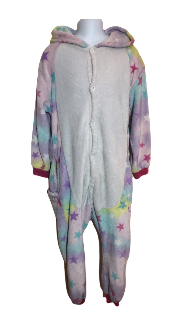 Age 10 Girls Unicorn Fleece Sleep Suit