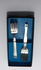 Vintage Viners Profile Stainless Steel Cutlery Six Pastry Cake Forks Boxed