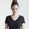 Size 10-12 Ladies Skinni fit Sk122 Black Ladies  fitted T-shirt Size M New