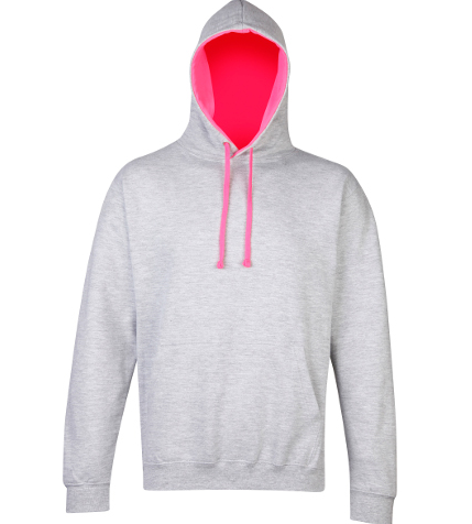 AWD JH013 Super bright Hoodie Grey Pink At Cirencester Emporium