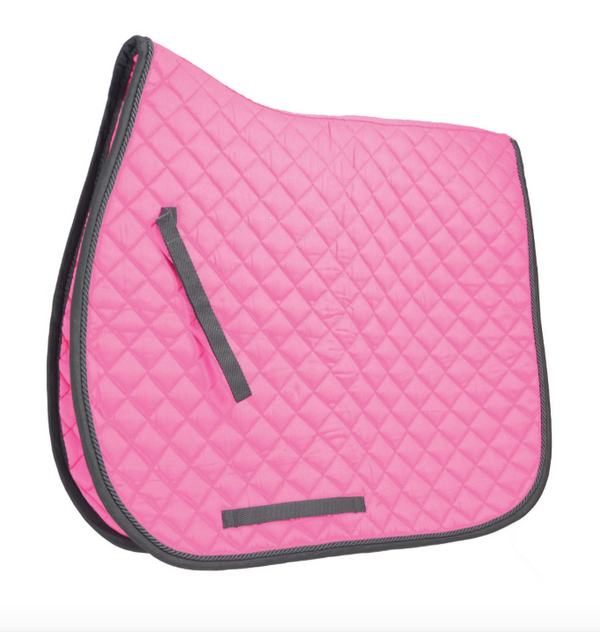 Hy Cob/full Pink Saddle cloth Equestrian with embroidery Stars