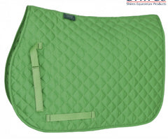 Shires Wessex Pony Green Saddle cloth with Embroidery