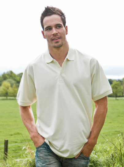 Mens Okarma White Organic Cotton Polo New