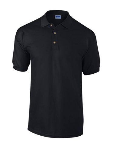 XL Mens Black Gildan Ultra Polo shirt New