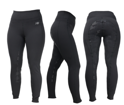 Size 14 HyPerformance Black Power Ladies Riding Skins Size  (32) Equestrian Rrp 69.99