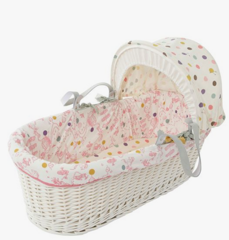 Joules Baby Girl Mad Hatter Moses Basket and stand