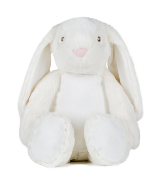 Mumbles Zippie Bunny  - Plain or Personalised with Embroidery