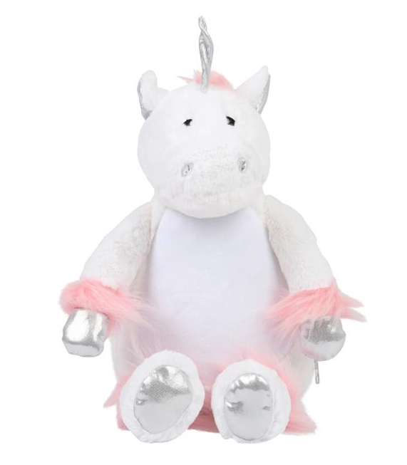 Mumbles Zippie Unicorn - Plain or Personalised with Embroidery