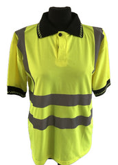 Mens Small Reliant Attitude Fluorescent Polo Shirt New