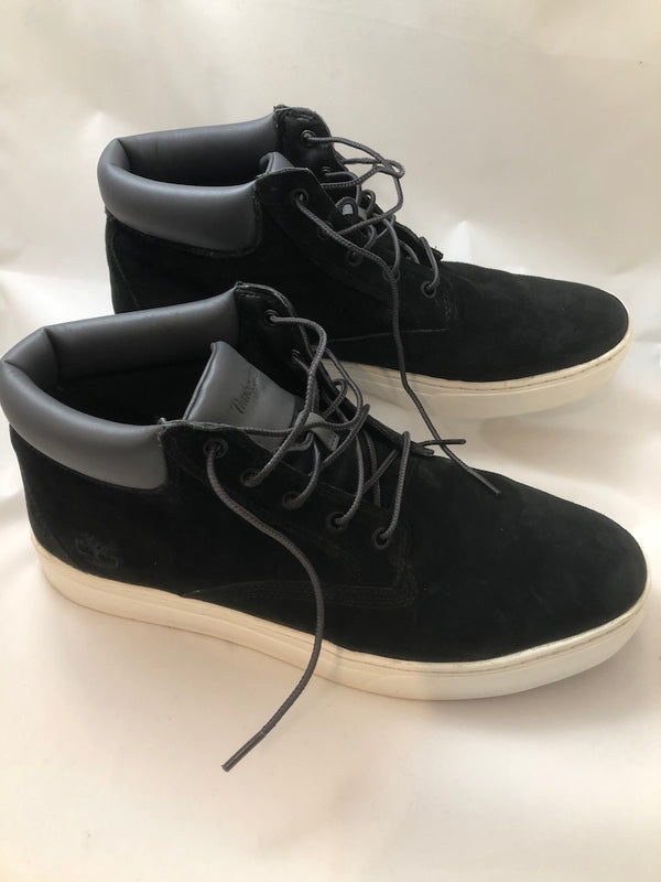 Uk 11 Timberland Mens Black Suede Midi Boots Excellent Condition