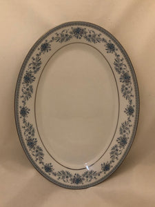 "Noritake ""Blue Hill"" Contemporary Fine China Serving Platter"