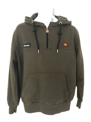 Medium Mens Ellesse Dark Green Vintage Hooded Sweatshirt