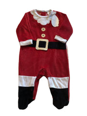 Age 3-6 months Santa Velvet Gro Suit New & Tagged