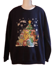 Age 11 - 12 Navy Pokemon Christmas Sweatshirt